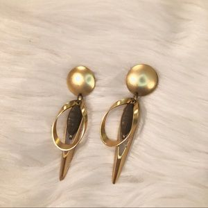Kenneth Jay Lane Polished Gold Swirl Post Earring